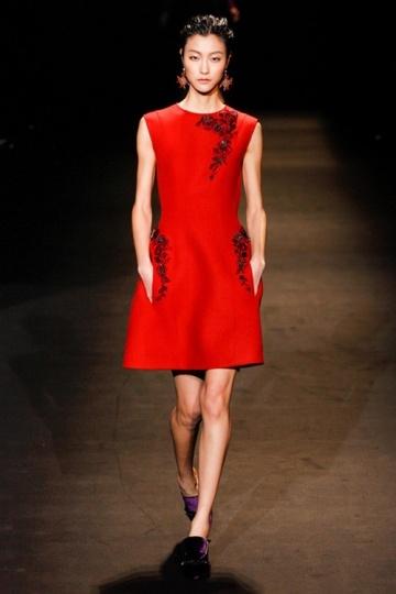 Rot Rund Ausschnitt Stickerei kurzes Abendkleider aus Satin Persun