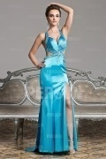 Chic Side slits Beading Floor Length Evening Dress