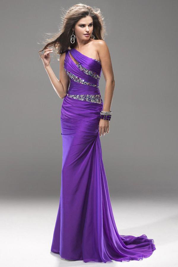achat robe plissee femme couleur violet pour cérémonie