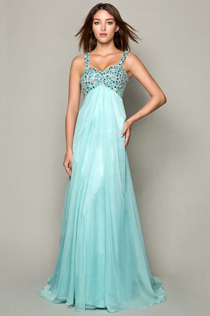Dressesmall Empire Straps Beaded Bodice formal dress Trendy