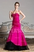 Fuchsia Tone Beading Strapless Mermaid Formal Evening Dress