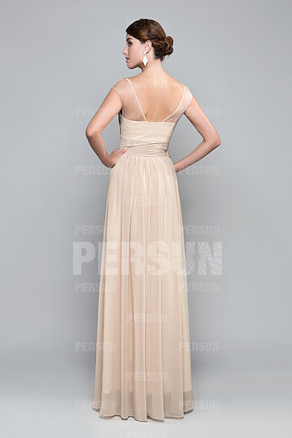 997bd421c5dd Wedding guest Chic Long Dress  Evening Dress in Cream. previous. Product  Image Product Image ...