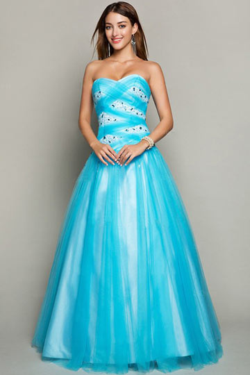 Dressesmall Sweetheart Beaded Tulle Formal Ball Gown