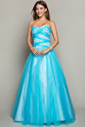 Sweetheart Beaded Tulle Formal Ball Gown