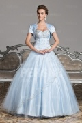 Royal Tulle Sweetheart Formal Ball Gown in Blue tone