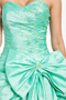 Emerald princess formal dress with Pick up skirt and bow