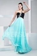 Robe longue deux tons en mousseline