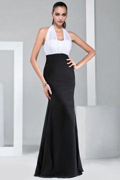 Longue robe blanche et noire moulante