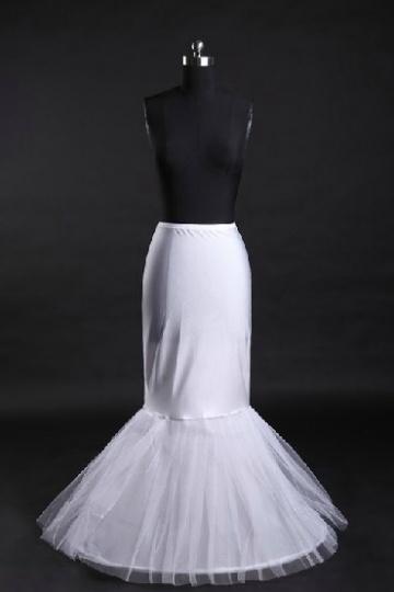 Günstig Weiß 1 Ringe Tüll Meerjungfrau Reifrock Unterrock Hochzeit Persun