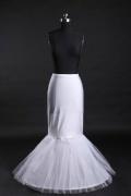 Günstig Weiß 1 Ringe Tüll Meerjungfrau Reifrock Unterrock Hochzeit