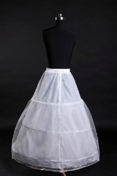 Jupon long pour robes de mariage et soirée ligne A 3 couches en nylon et tulle