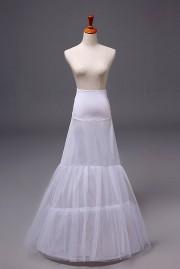 Weiß 1 Ring Tüll Reifrock Unterrock Hochzeit Braut