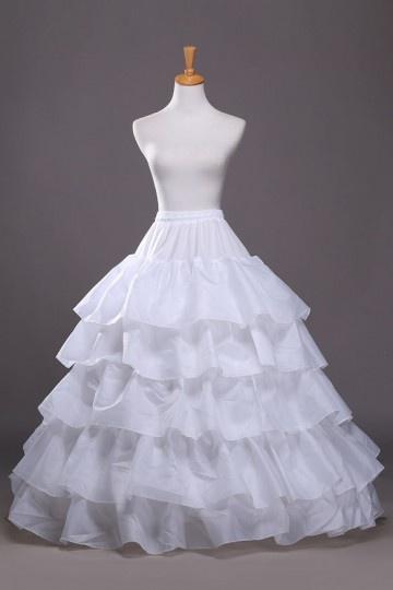 Weiß Ball Gown 5 Reifen Reifrock Unterrock Hochzeit Braut Persunshop