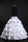 Weiß Ball Gown 5 Reifen Reifrock Unterrock Hochzeit Braut
