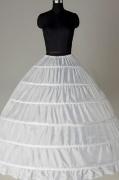 Neu Ball Gown Weiß 6 Ringe Hochzeit Reifrock Unterrock