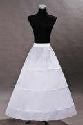 Weiß A Linie 3 Ringe Brautkleid Unterrock