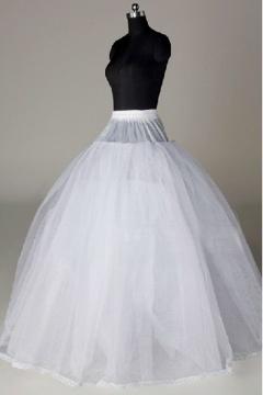 Jupon long au sol 4 couches pour robes de mariage en nylon