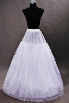 Jupon Ligne A long au sol pour robes de mariage en tulle