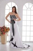 A Linie Ärmelloses Reißverschluss Applikation Hochzeitskleid