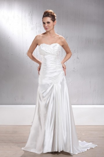 Empire Sweetheart Applique Laced Up Bridal Gown