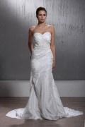 Trumpet Sweetheart Floor length Taffeta Bridal Gown