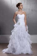 Informal Empire Strapless Chapel Tarin Church Wedding Dress