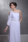 Sheath Column One Shoulder Floor length Chapel Wedding Dress
