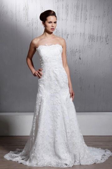 Vestido de noiva Moderno sereia sem manga decote em coração