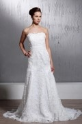 A-line Sleeveless Sweetheart Wedding Dress