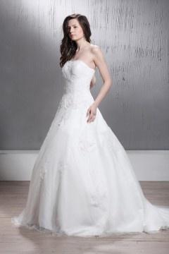 Robe de mariée princesse à traîne Court avec applique