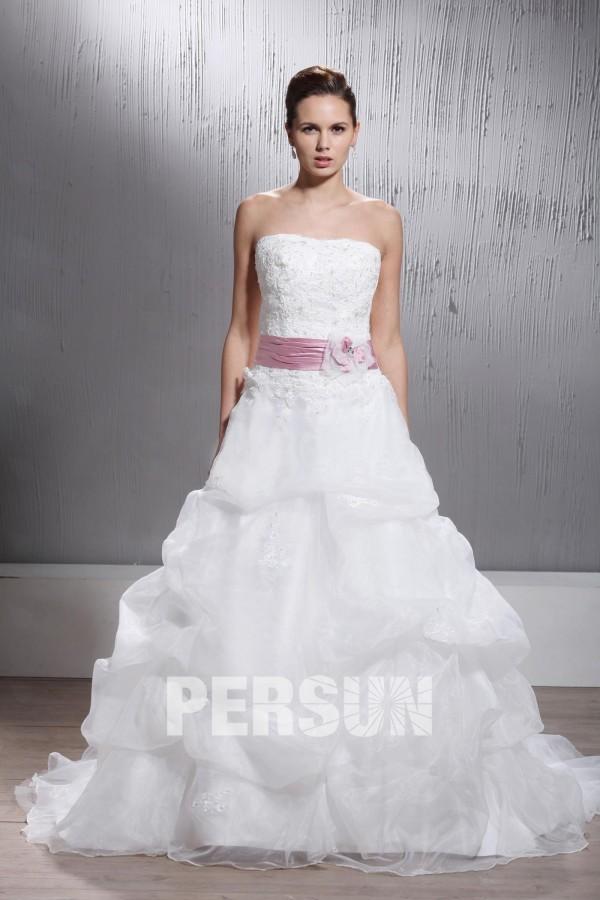 robe de mari e princesse ligne a tra ne chapel ruch e