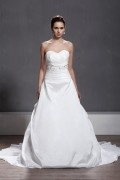 Chic Sweetheart Sleeveless A line Backless Taffeta Wedding Dress