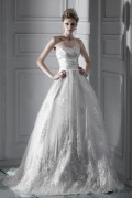 Ball Gown Sweetheart Chapel Lace Wedding Dress