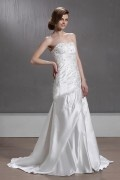A line Sweetheart Floor Length Bridal Gown