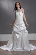 A Line / Princess Straps Cathedral Bridal Gown