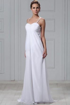 40e0e73355e7 Elegante Abito da Sposa con Perline Senza Maniche