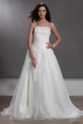 Sleeveless Beading Floor length Wedding Dress