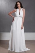 Empire V neck Beading Maternity Bridal Gown