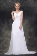 Empire Straps Chapel Wedding Dress