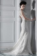 Spectacular Trumpet/Mermaid Straps Floor Length Chapel Lace Wedding Dress