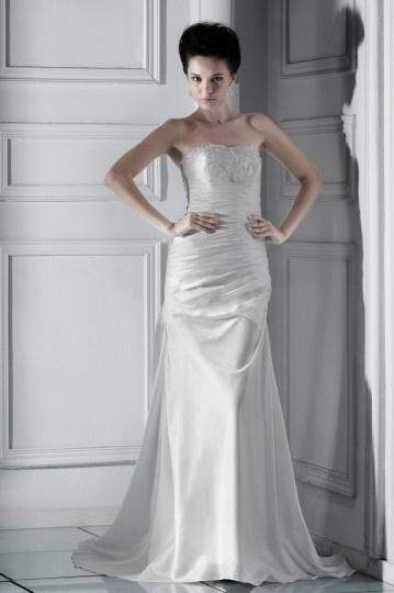 Vestido de noiva Moderno prata linha A decote em coração Vestido longo