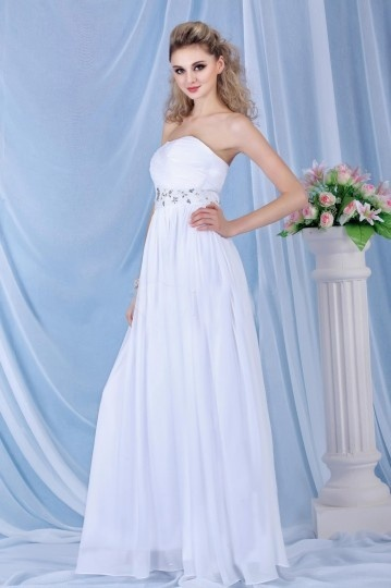 Strapless Empire Lavender Floor length Wedding Dress