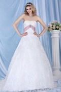 Klassisches Spitze Applikationen Schärpe verziertes Schnürung Brautkleid