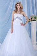 Strapless Ball Gown Sweeping Sash Wedding Dress