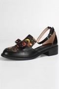 Chaussures de ville femme basse avec dessin cartoon