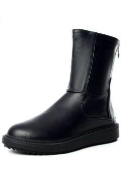 Bottines habillées en noir moderne au mollet