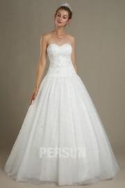 Elody: Princess sweetheart tulle wedding dress with beaded skirt