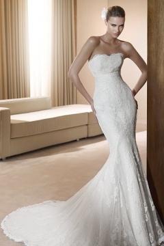 Elegant Lace Embroidery Sweetheart Mermaid Court train Wedding Dress