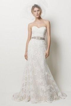 Elegant Lace Embroidery Sweetheart Trumpet Court Train  Wedding Dress