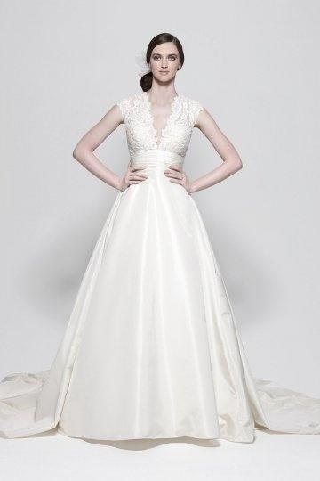 Chic A-Linie Empire ivory Brautkleider aus Taft Persun